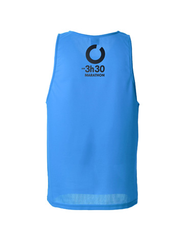 Blue Men's Vest Back