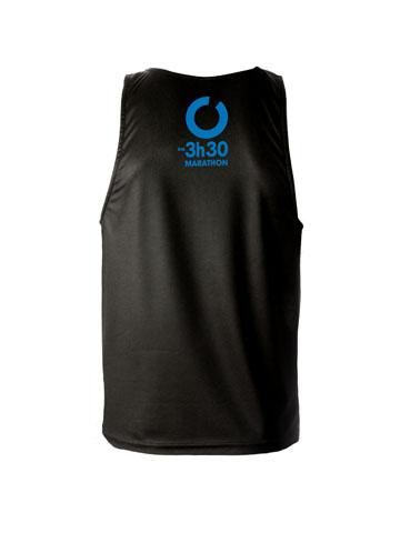 Blue Men's Vest Back