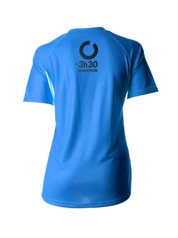 Blue Women's T-Shirt Back