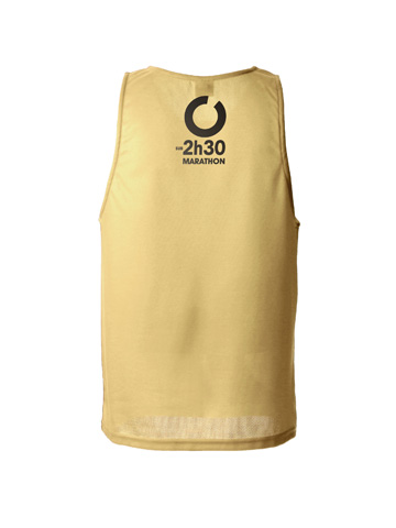 Gold Men's Vest Back
