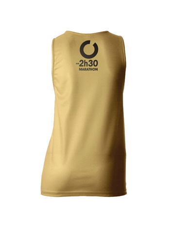 Gold Women's Vest Back