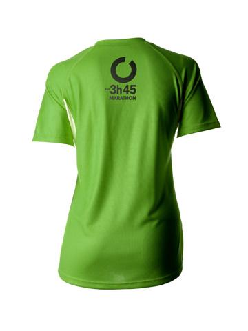 Green Women's T-Shirt Back