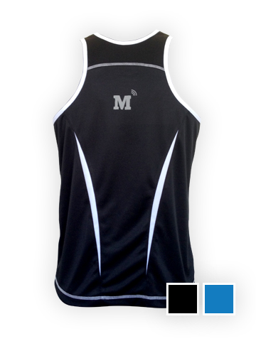 MT Vest, Black - Men's Back