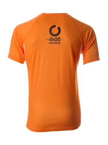 Orange Men's T-Shirt Back