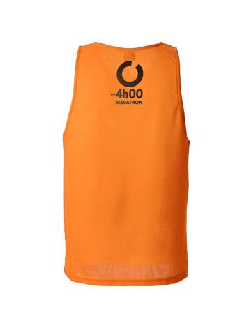 Orange Men's Vest Back