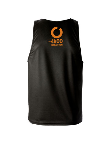 Orange Men's Vest Back
