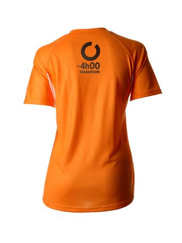Orange Women's T-Shirt Back