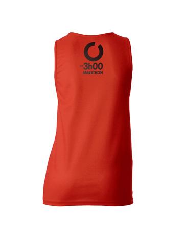 Red Women's Vest Back
