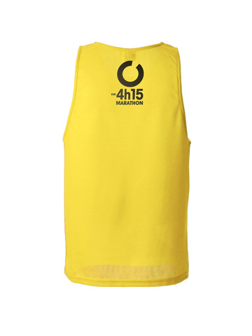 Yellow Men's Vest Back