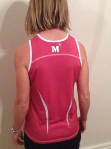 Ladies' vest - back